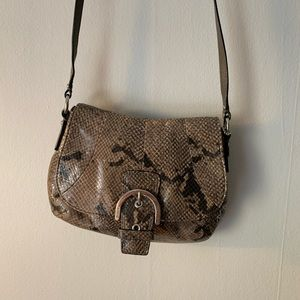 Coach cross-body snakeskin purse